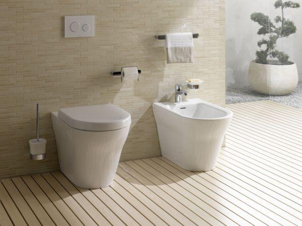 Toto Washlet GL2.0 Dusch WC Set - Stand-WC Tiefspüler mit Tornado Flush System weiß
