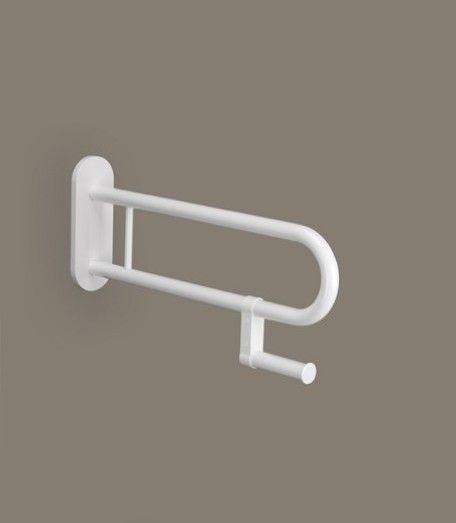 Relaxline Stützgriff mit Papierhalter 650mm weiss