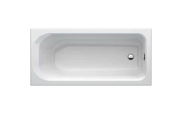 One Körperform Badewanne 1700X750 mm weiß Acryl mit Wannenträger
