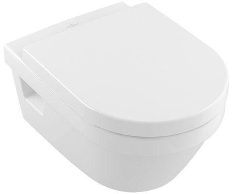 """Villeroy & Boch Wand-WC-Set Omnia mit """"Ceramicplus"""" mit WC-Sitzbrett, 5684"""