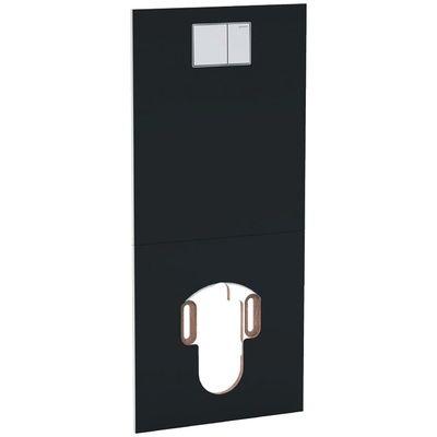 Geberit AquaClean Designplatte an Unterputzspülkasten Glas schwarz, 115.328