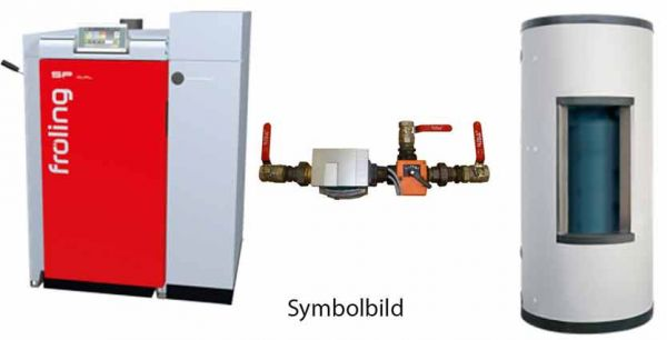 Fröling Dual compact 15kW Kombi-Kesselset mit Schichtspeicher