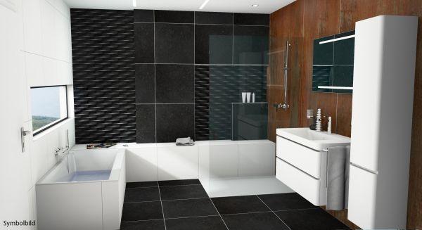 Traumbad-Korsika WT mit Möbeln, Dusche und BW , Bad-HK, Option mit Montage
