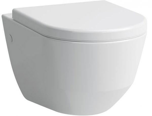 Laufen 2096.5 Pro Wand WC Tiefspüler spülrandlos, weiß verdeckte Befestigung 49 cm Tiefe, verkürzt