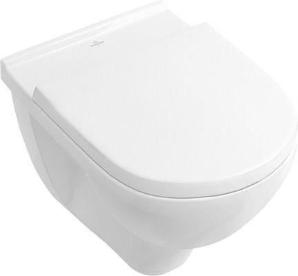 "Villeroy & Boch Wand-WC-Set O.novo mit ""Ceramicplus"" mit WC- Sitzbrett, 5660"