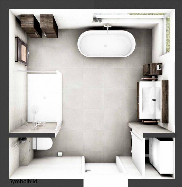 Traumbad Complete incl. Fliesen, WT mit Möbeln, Dusche, BW, WC, Speicher;Option mit Montage