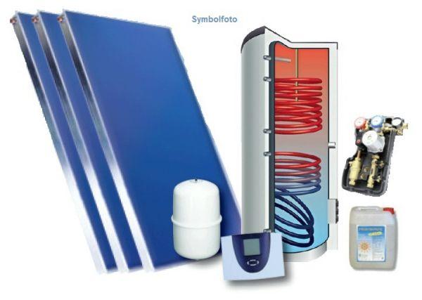 Energy Sytems Solar-Set 7,5m2 Aufdach-Ziegel,und Standspeicher 400 inkl.Regelung und Zubehör