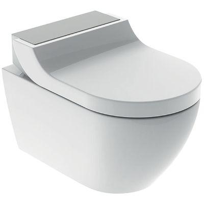 Geberit AquaClean Tuma Comfort Dusch Komplettset Wand WC mit Duschsitz weiß/Edelstahl 146.290