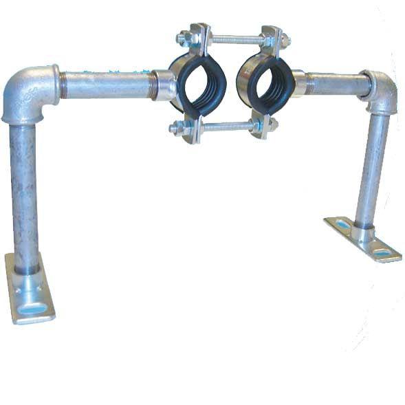 Austroflex Fixpunktschelle für Fernwärmeleitung Doppelrohr 2x40 mm
