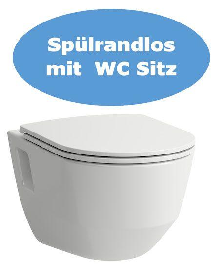 Laufen Wand WC Set spülrandlos Pro mit Sitzbrett mit Absenkautomatik