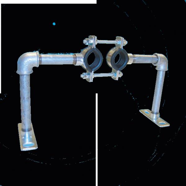 Austroflex Fixpunktschelle für Fernwärmeleitung Doppelrohr 2x32 mm